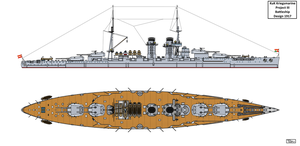 Austro-Hungarian Project III Battleship Design by Tzoli
