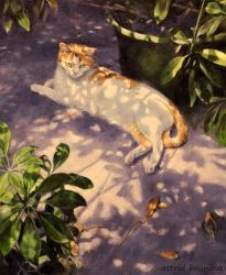 Lazy Sunday  - Oil Painting by AstridBruning