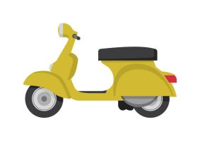 Vintage Scooter Free Vector by superawesomevectors
