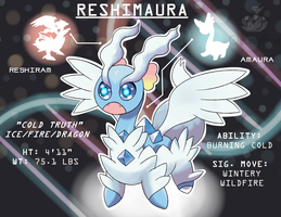 Pokemon Fusion! Reshiram and Amaura!