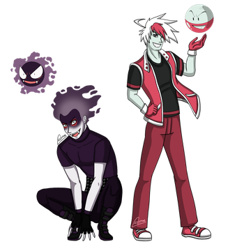 Pokemon - Human!Ghastly y Electrode by Creytor