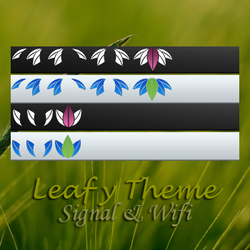 Leafy Signal and Wifi Bars by discordante