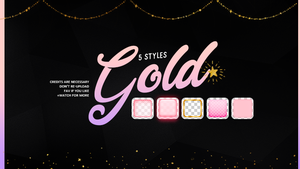 Gold |Styles #02 by Mondai-Girl