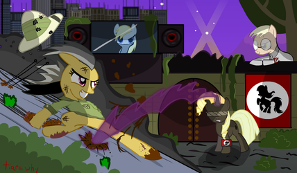 Daring Do And The Neighzis by tiarawhy
