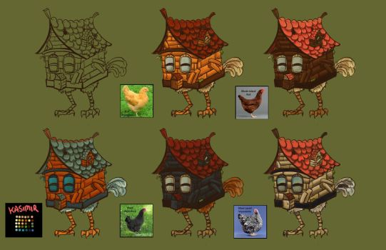 Chicken house variations by NoreyDragon