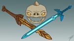 BOTW Skull and Swords by Avajes