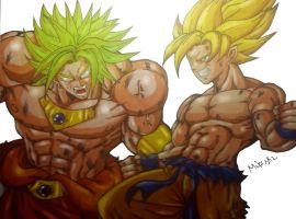 Goku Vs Broly by MikeES