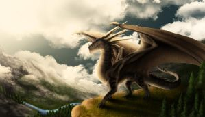 Mountain Dragon. by PandiiVan