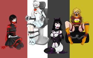 Team RWBY in distress by BlackJacke7