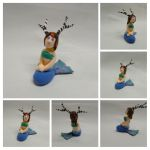 Deermaid miniature by TurquoiseThought
