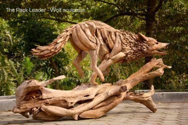 The Pack Leader - a Wolf sculpture by ghoff24