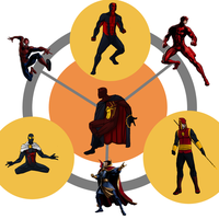 Spider-Man/Daredevil/Doctor Strange Hexafusion by AlanDjayce