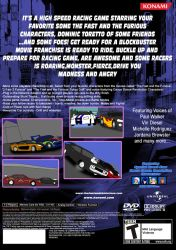 The Fast and the Furious Championship PS2 Back by CartoonAnimeFan2000