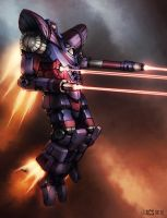 Mech Warrior - Guillotine by Shimmering-Sword