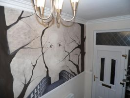Surreal Tree Mural by Cassieprouse