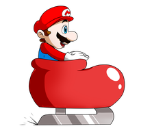 SMB Suits Collab_Ice Skate Mario by Chivi-chivik