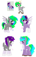 MLP Bred Adopts - Deer Bat Ponies (2/4 Open) by Blast4rt