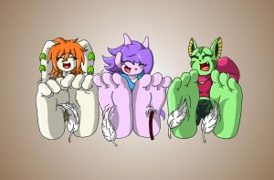 Team Lilac's Tickle Torture by BlondeUchiha