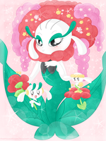 .:Garden Princesses and Queen:. by PinkPrincessBlossom