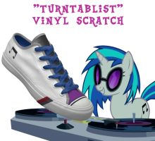 Vinyl Scratch shoes by DoctorRedBird