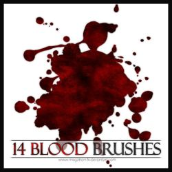 14 Blood Brushes v2 by megatron-fx