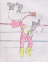 SuperTed bodyslams Danger Mouse by WhippetWild