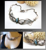 Chaos II- wire wrapped copper necklace by mea00