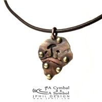 Drum Cymbal Necklace #103 by jphiijewelry