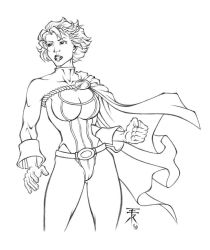 powergirl-sketch by EuROPA777