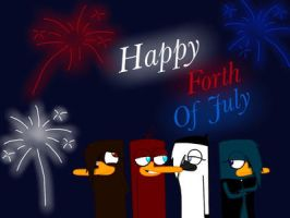 Happy forth of July by Pinkwolfly