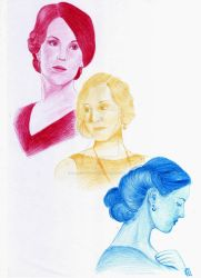 Downton Abbey - The Crawley Sisters by A-Lack-of-Rainbows