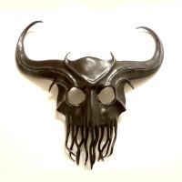 Freaky Horned Cthulhu Inspired Leather Mask by teonova