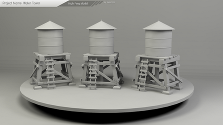 Water Tower Model by Tooschee