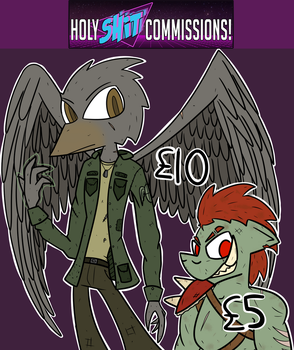 Holy Shit Commissions! by Kev-Dee