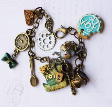 Steampunk Mad Hatter Bracelet by colourful-blossom