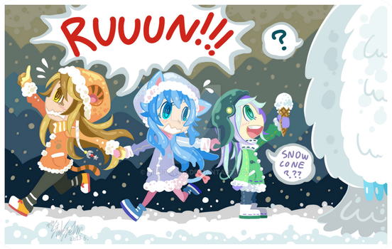 RUUUUUUUUUN!! or snow cone? by Lilu-Leloo