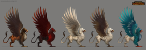 TW:WH Concept Art - Imperial Griffon by telthona