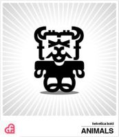 helvetica bold Animals by myloo