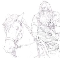 The Green Knight Lineart by Toradh