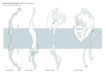 Elemental weapons sketch by CristianoReina
