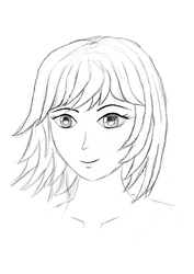 Manga Female - lineart by dsonck92