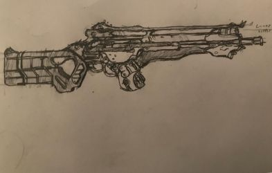 Grineer 'Garnlok' Rifle by HaruAxeman