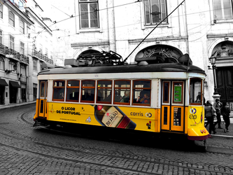 Yellow Tramway by GeorgeXVII