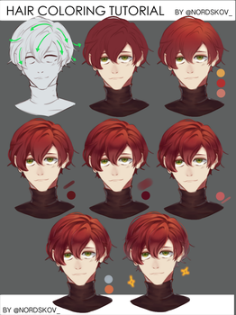 Hair coloring tutorial by nordskov