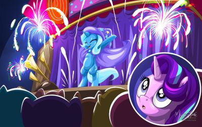 Trixie's Show with Starlight by mysticalpha