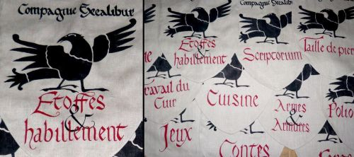 Compagnie Excalibur's flags by Errance