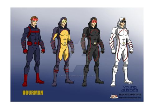 Young Justice Character Designs Hourman