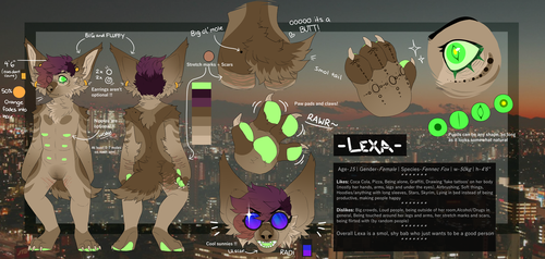 Lexa Reference Sheet 2017 by MonsterFennec