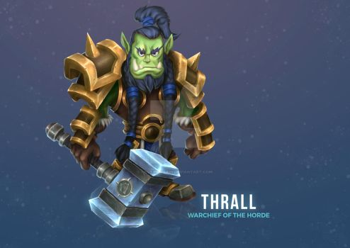 Thrall fan art with cartoon style by neofailagain