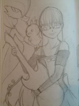 SKETCH: Me as a Pokemon trainer by cloverhoneysweet